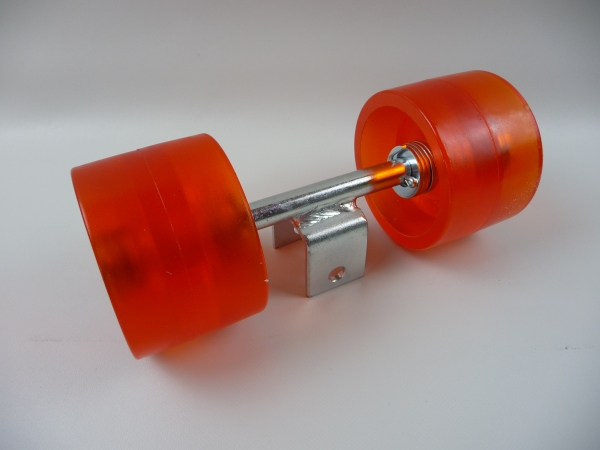 Original Stoltz Sliprolle Bootsauflage Kielrolle Rolle aus Polyurethan mit Achse 3075W
