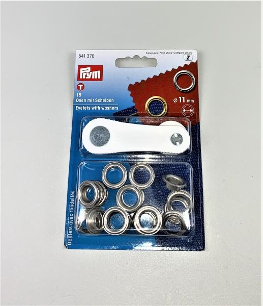 Prym Ösen & Scheiben ca.11/20 mm mit Werkzeug Neu L0370
