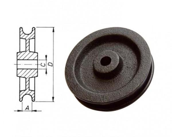 Seilrolle Rolle 60 mm schwarz Neu L0458.1