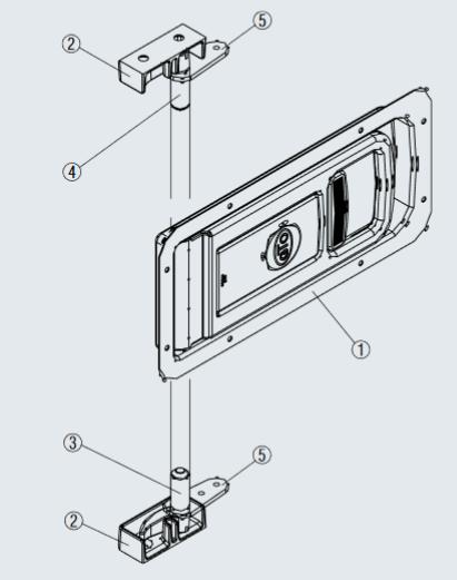 Drehstangenverschluss Verschlussriegel Einbau-Set EDELSTAHL L228570