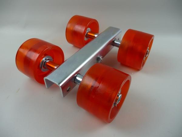 Stoltz 4er Slipwagen Sliprollen Bootsauflage Rolle aus Polyurethan Orange L3085P
