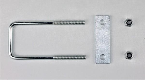 Bügelschraube Klemmplatte+Muttern M10 Lichte Weite 62 mm L Höhe 80 mm U8062S