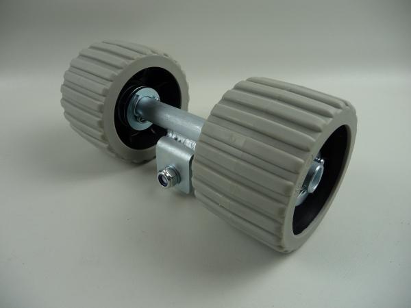 Sliprolle Bootsauflage Kielrolle Rolle Farbe GRAU mit Achse 3073W