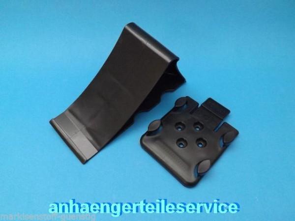 2 Keil Schwarz mit Haltern für Anhänger Trailer Achsl.1,6 t L2069S2