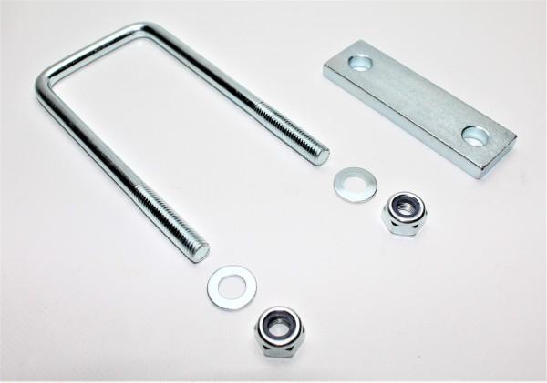 Bügelschraube Klemmplatte+Muttern M10 Lichte Weite 42 mm L Höhe 100 mm U10042S